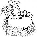 Pusheen the Cat Coloring Pages Wonderful Disney Mandala Halloween Cat Coloring Pages Wiki Design