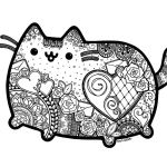 Pusheen the Cat Party Awesome Pusheen Cat Coloring Pages New Picture Coloring Line Elegant Color