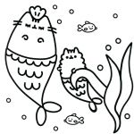 Pusheen the Cat Party Creative Pusheen Cat Coloring Pages