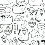 Pusheen the Cat Party Inspirational Pusheen Cat Coloring Pages New Picture Coloring Line Elegant Color