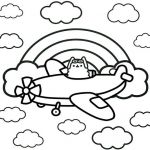Pusheen the Cat Pictures Inspiration Airplane Cat Pusheen Coloring Pages for Kids Coloring Pages for Children and Shara