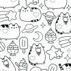 Pusheen the Cat Pictures Marvelous Pusheen Coloring Pages Lovely Kawaii Coloring Pages Inspirational 94