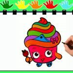 Queen Cupcake Shopkin Awesome Shopkins Drawing Pages at Getdrawings