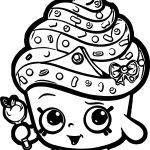 Queen Cupcake Shopkin Awesome Yampuff Cupcake Coloring Pages