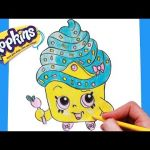 Queen Cupcake Shopkin Creative How to Draw Shopkins Season 1 Cupcake Queen Limited Edition Step by
