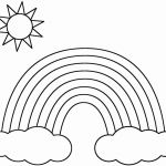 Rainbow Coloring Books Awesome Rainbow to Print Unique Rainbow Coloring Pages Cool Rainbow