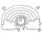 Rainbow Coloring Books Inspired Rainbow Sun Colouring Page Preschool Color Sheets