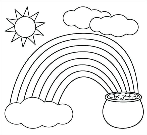 Rainbow Coloring Pages Free Creative Pots Gold Coloring Pages Pot Page Free – Longesfo