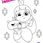 Rainbows Coloring Sheets Awesome Grizelda and Frookie From True and the Rainbow King Coloring Pages