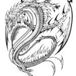 Realistic Dragon Coloring Page Inspiration Adult Color Page