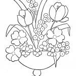 Rose Coloring Pages Wonderful Roses Color Sheets Best New Cool Vases Flower Vase Coloring Page