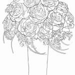 Rose Flower Coloring Pages Wonderful Inspirational Flower Bouquet Coloring Sheets – thebookisonthetable