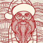 Santa Claus Coloring Books Creative Drawing Santa Claus Style for Coloring Book Tattoo Shirt Design