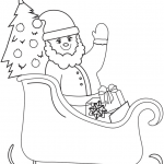 Santa Claus Coloring Books Inspirational Santa On Sleigh Coloring Page