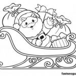 Santa Claus Coloring Books Inspired Santa Sleigh Drawing at Getdrawings
