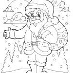 Santa Claus Coloring Books Inspiring Coloring Book Santa Claus theme 1 Royalty Free Vector Image