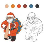 Santa Claus Coloring Books Inspiring Colorless Stock Vectors Royalty Free Colorless Illustrations