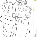 Santa Claus Coloring Pages Beautiful Santa and Mrs Claus Waving Hands for Christmas Col Stock Vector