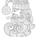 Santa Claus Coloring Pages Wonderful Christmas Zentangle Santa Claus for Adult Vector Image Adult