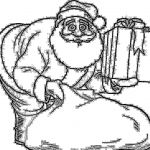 Santa Claus Coloring Pretty Gifts Coloring Pages