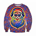 Santa Claus Pictures to Print Exclusive 2019 Newest Fashion Rock&roll Christmas Dj Santa Claus Colorful 3d