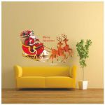Santa Claus Pictures to Print Exclusive Wall Dreams Santa Claus & Reindeer Pvc Wall Stickers Buy Wall