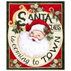 "Santa Claus Pictures to Print Marvelous Springs Creative Christmas Retro Santa Claus 36""panel Multi"