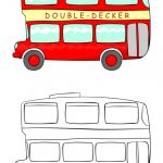 School Bus Pictures to Color Awesome Double Decker Bus Coloring Pages Kids