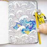 Scuba Diving Coloring Pages Amazing Waves Adult Coloring Pages by Coloringnotebook Paper Journal with