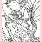Sexy Coloring Pages Awesome Y Adult Mermaid Coloring Page Fabric Block Crafts 8x10 Dm2