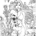 Sexy Coloring Pages Elegant 758 Best Coloring Fantasy Pinups Images In 2019