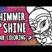 Shimmer and Shine Activities Wonderful Videos Matching Shimmer and Shine Drawing & Painting with