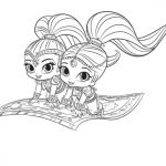 Shimmer and Shine Coloring Page Amazing Shimmer and Shine Coloring Pages to and Print for Free