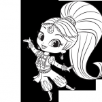 Shimmer and Shine Coloring Page Amazing Shimmer and Shine Nickjr Coloring Pages