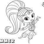 Shimmer and Shine Coloring Page Brilliant Coloring Pages Shimmer and Shine 650 434 Shimmer and Shine