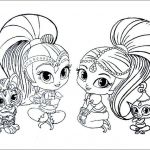 Shimmer and Shine Coloring Page Creative Colouring Pages Drawing at Paintingvalley