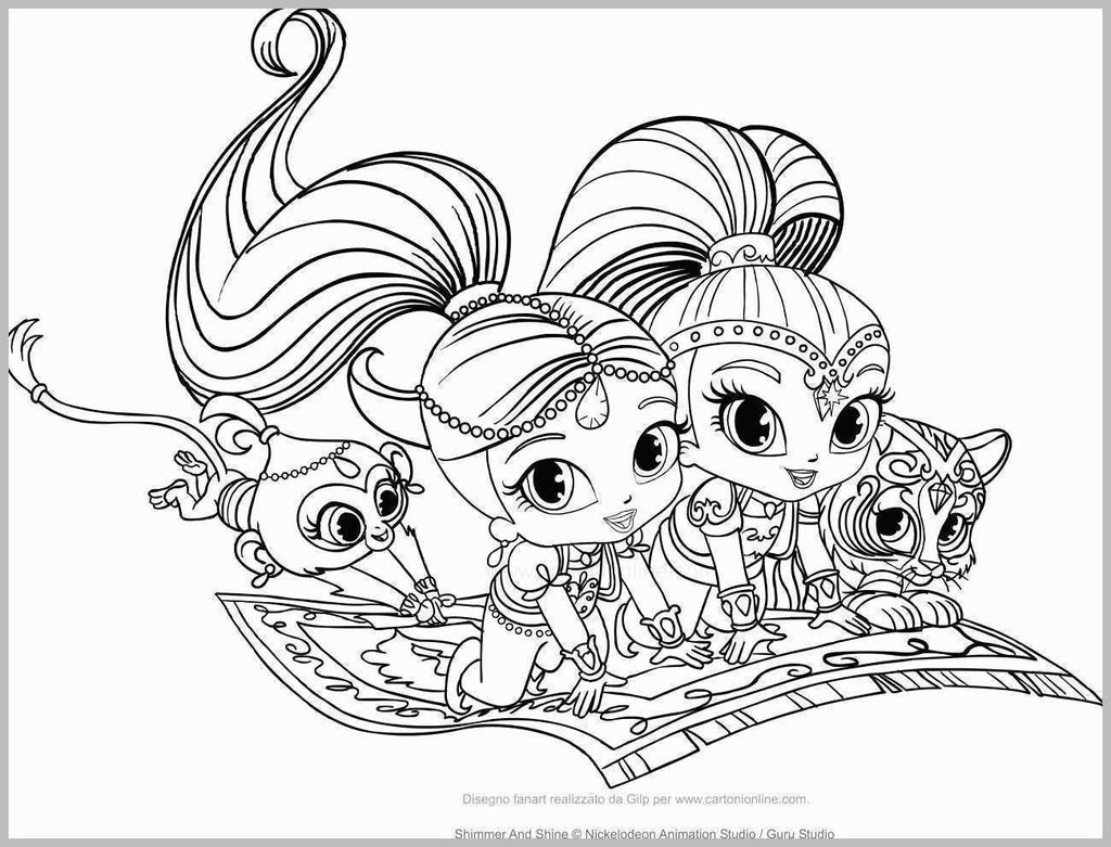 Shimmer and Shine Coloring Pages Elegant Shimmer and Shine Coloring