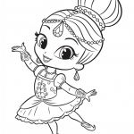 Shimmer and Shine Coloring Page Creative Shimmer Doing Ballet E 802—1024 and Shine Coloring