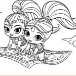 Shimmer and Shine Coloring Page Marvelous Coloring Pages Shimmer and Shine 650 375 Shimmer and Shine the