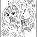 Shimmer and Shine Coloring Page Pretty Coloring Pages Shimmer and Shine Coloring Pages for Children