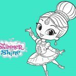 Shimmer and Shine Coloring Pages Creative Shimmer and Shine Ballerina Coloring Pages