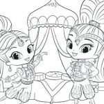 Shimmer and Shine Coloring Pages Inspired Coloring Pages Shimmer and Shine Coloring Pages for Children