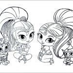 Shimmer and Shine Coloring Pages Inspiring Colouring Pages Drawing at Paintingvalley