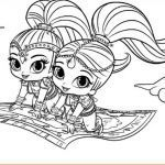 Shimmer and Shine Coloring Pages Wonderful Coloring Pages Shimmer and Shine 650 375 Shimmer and Shine the