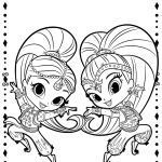 Shimmer and Shine Coloring Pages Wonderful Fun Free Shimmer and Shine Coloring Pages 1 Clipart – S1