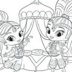 Shimmer and Shine Free Awesome √ Shimmer Shine Coloring Pages and Chic Design Shimmer and Shine