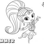 Shimmer and Shine Free Inspiration Coloring Pages Shimmer and Shine 650 434 Shimmer and Shine