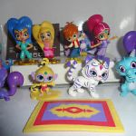 Shimmer and Shine Parisa Amazing Shimmer and Shine Cake toppers 12 Plastic Figures and A Free Gift