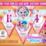 Shimmer and Shine Printables Excellent Triangle Party Banner Inspirational Shimmer and Shine Birthday Party