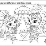 Shimmer and Shine Printables Exclusive Coloring Pages Shimmer and Shine Awesome Shimmer Shine Coloring